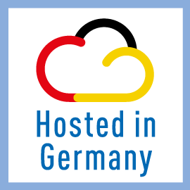 Hosted in Germany – data security